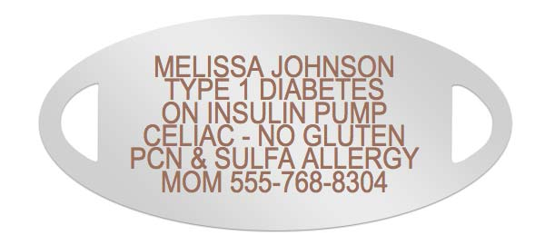 Diabetes Medical ID Engraving